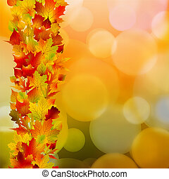 Autumn leaves, very shallow focus. EPS 8