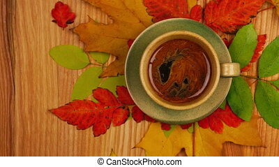 Autumn Leaves with Coffee