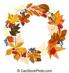 autumn leaves wreath