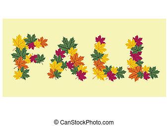 Autumn leaves written texture
