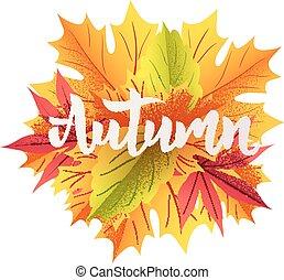 Autumn lettering illustration