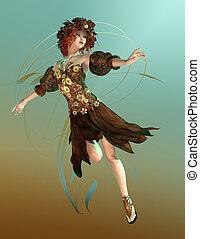 Autumn Maid - a fairylike girl that represented the Autumn.