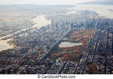 Manhattan aerial view;