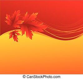 Autumn maple leaves background. Vector illustration
