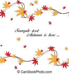 Autumn maple leaves seamless