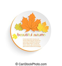 Autumn maple leaves with place for text. Vector illustration