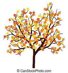 Autumn maple tree. EPS 10 Vector illustration without...