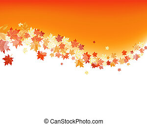 Autumn maples falling leaves background. Vector illustration...