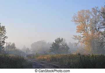 Autumn morning, Moscow suburbs