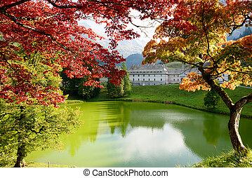Autumn mountain landscape in the Alps
