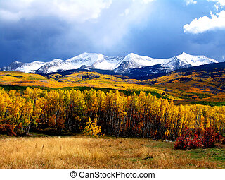 Autumn Mountain - Mountain near Crested Butte, Colorado.