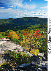 Autumn Mountain peak view panorama