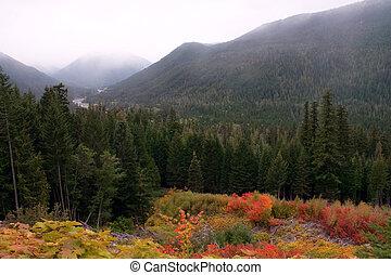 Autumn Mountain River Valley