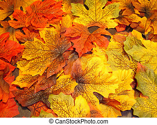 Autumn multicoloured leaves (silk leaves)