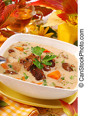 autumn mushroom soup with cream