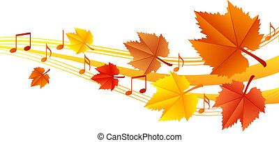 Autumn music - vector illustration