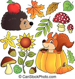 Autumn nature theme set 1