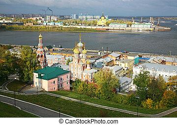 View of ?utumn Nizhny Novgorod in the morning
