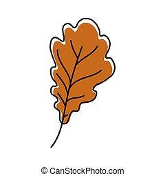Autumn oak leaf icon