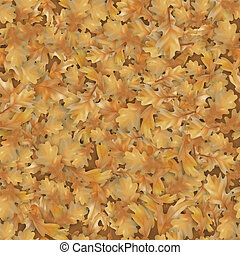 Autumn oak leaves background