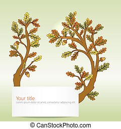 Autumn Oak leaves banner