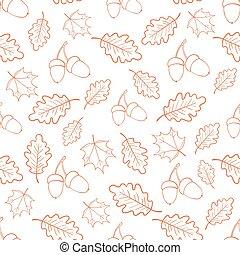 Autumn oak leaves pattern