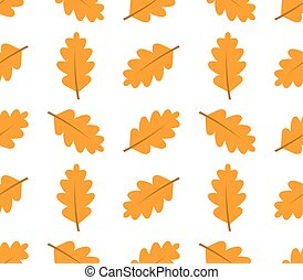 Autumn oak leaves seamless pattern