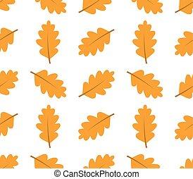 Autumn oak leaves seamless pattern
