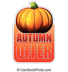 autumn offer fall pumpkin, vec