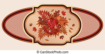 Autumn old banner, vector