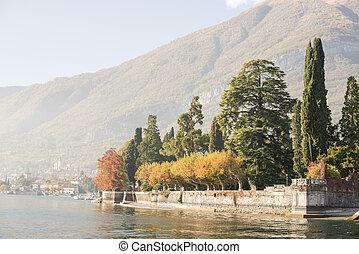 Autumn on Como Lake in Italy.