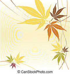 Autumn or fall maple leaves design. - Autumn or fall maple...