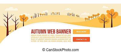 Autumn or Fall web banner design