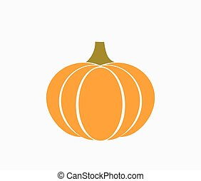 Autumn orange pumpkin icon
