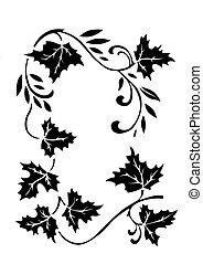 autumn ornament on white background