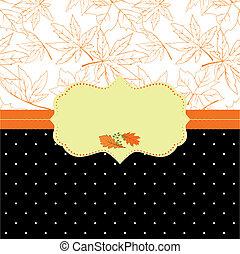 Autumn ornate frame greeting card