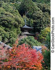 Autumn pagoda at Eikando in Kyoto, Japan