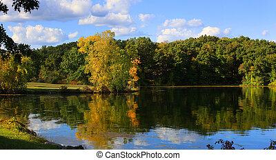 Autumn panoramic landscape