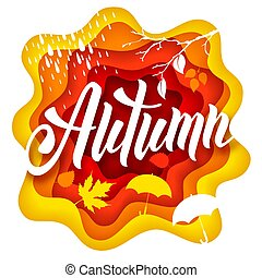 Autumn paper art