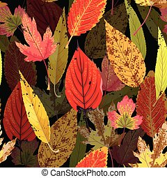 Autumn pattern with leaves