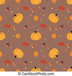 autumn pattern with pumpkin - autumn seamless pattern with ...