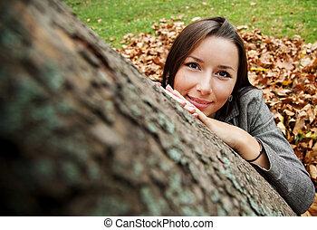 autumn peace female