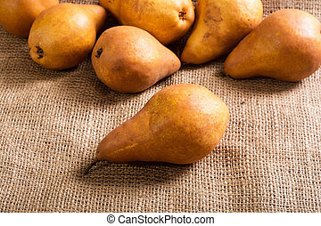 Autumn pears background