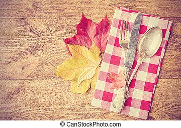 autumn place setting