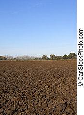 autumn plow soil
