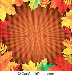Autumn Poster With Leaves