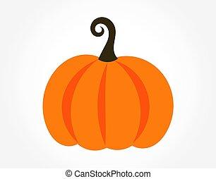 Autumn pumpkin icon isolated.