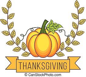 Autumn pumpkin thanksgiving design