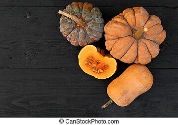 Autumn pumpkins Cucurbita moschata