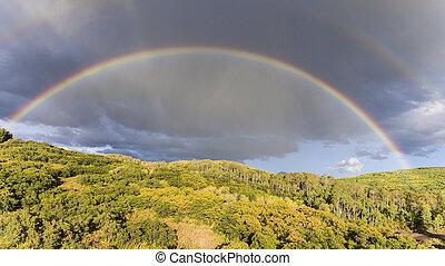 Autumn Rainbow in the Gunnison National Forest